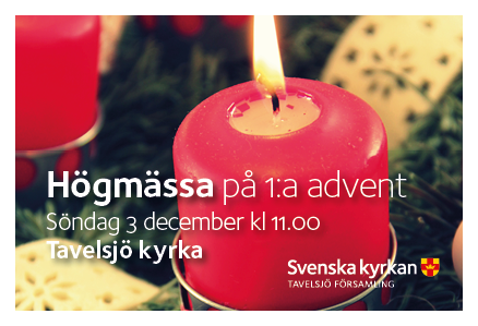 171203 webb tavelsjo Gudstjanst forsta advent